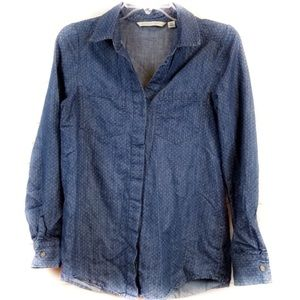 LC LAUREN CONRAD button down denim shirt XL